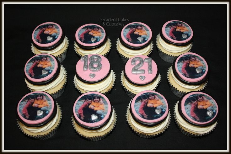 <3 Personalized Edible Image Cupcakes <3 Made By Decadent Cakes & Cupcakes