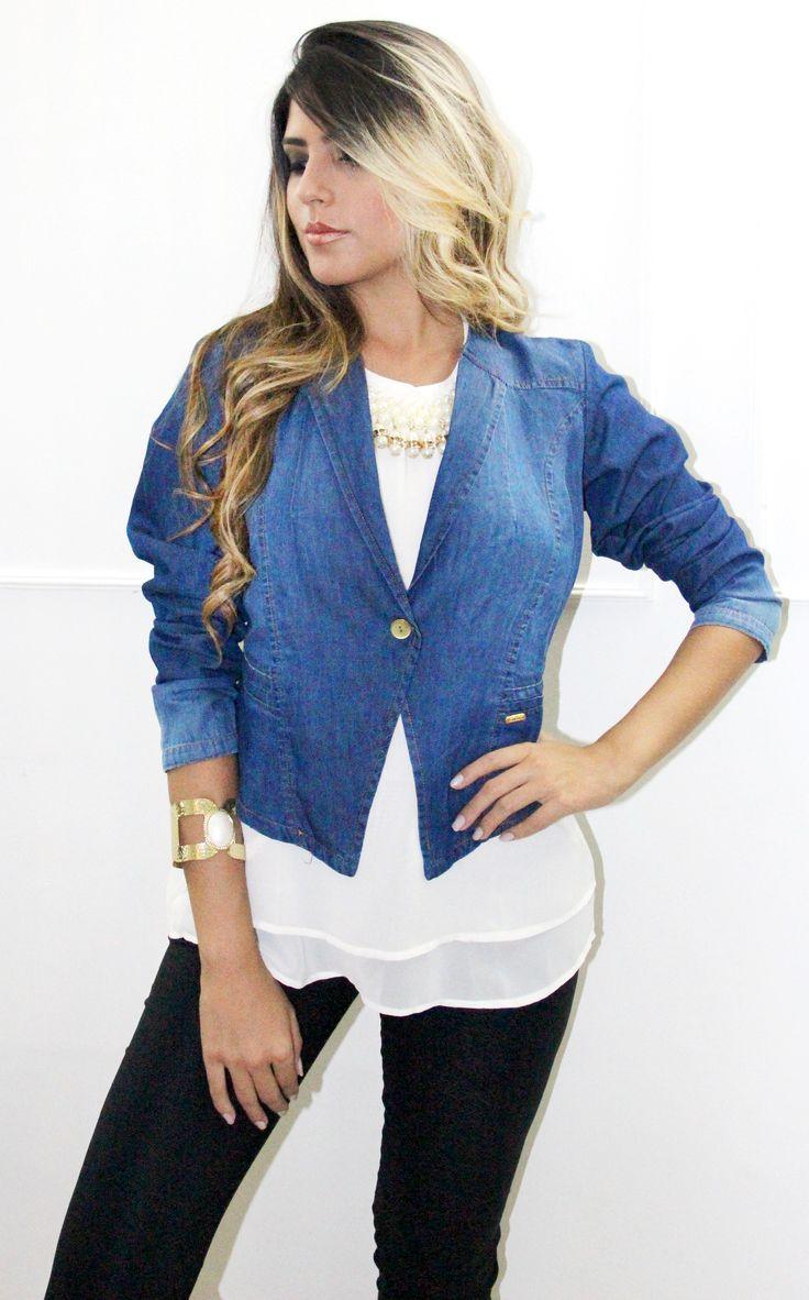 Blazer unico color - jean