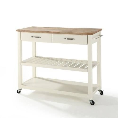 Crosley Stainless Steel Top Rolling Kitchen Cart Island Provides The Ultimate In Style To Dress Up Any Culinary E Adjule Removable Shelf Is