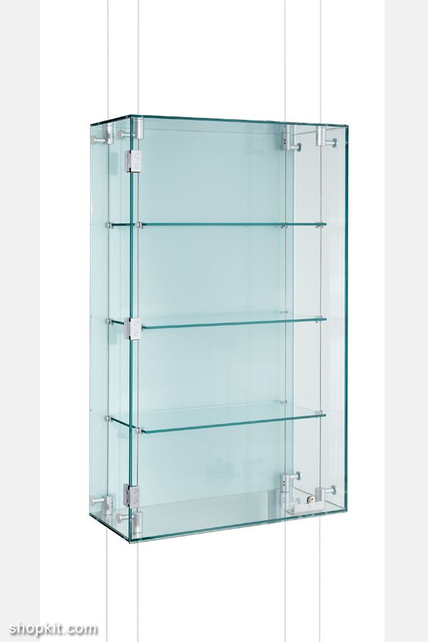 Suspended Glass Display Cabinets Custom Made Shopkit Group Uk Glass Cabinets Display Glass Shelves Glass Shelves In Bathroom