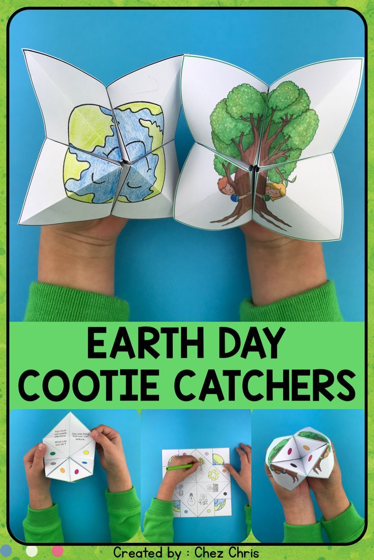 Cootie Catchers / Fortune Tellers - Earth Day | Earth day ...