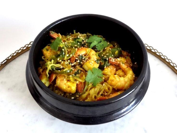 Pâtes sautées au curry (Singapour)