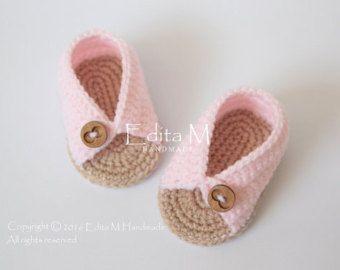 Crochet bebé sandalias sandalias de gladiador por EditaMHANDMADE