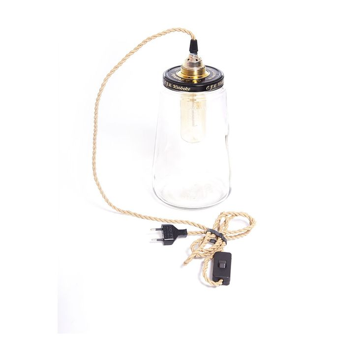 Lampe Bocal Pickle Light GM - Câble corde