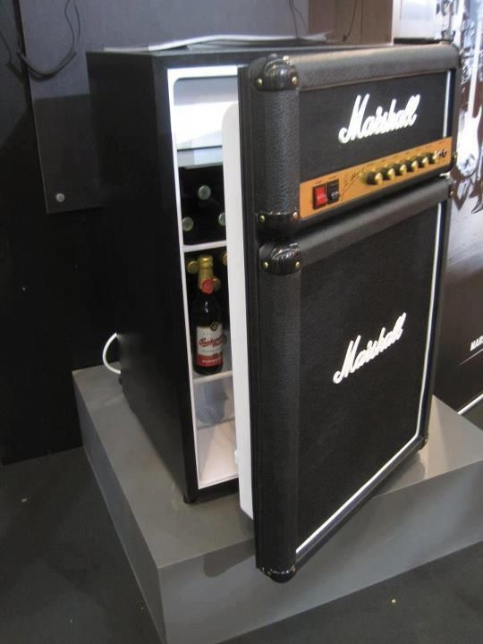 Cool use for old amps, etc. So many ideas for this... Storage cabinet for kid's or music room??