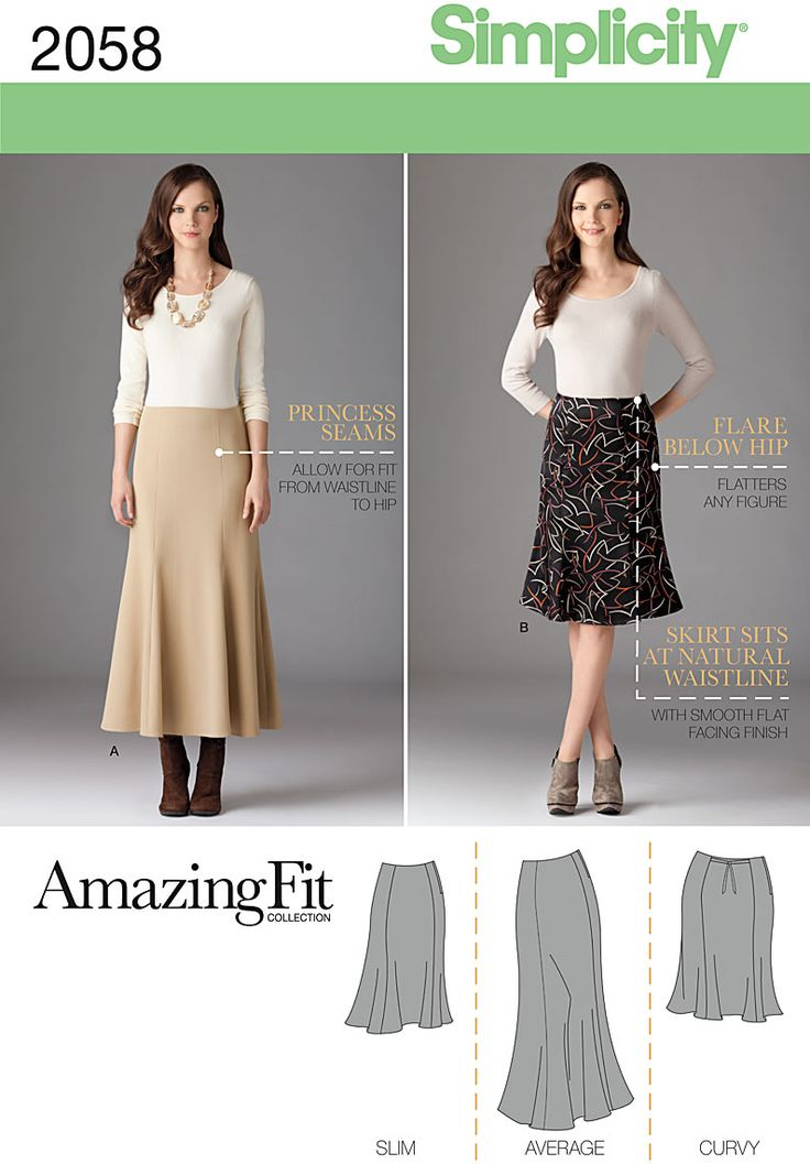 Simplicity Creative Group - Misses' & Plus Size Amazing Fit Skirt