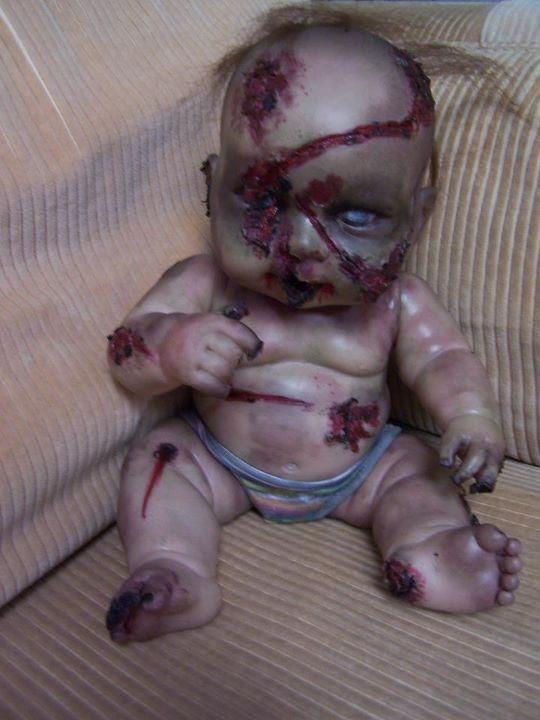 Zombie doll craft ideas with old dolls.