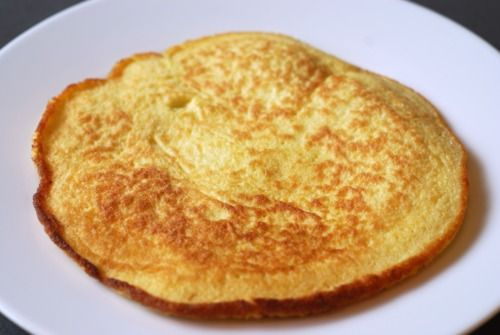 Thin and SAVORY Coconut Pancakes (almost more like a tortilla or crepe) from nom nom paleo