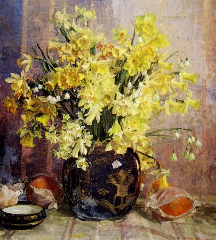 Still Life with Spring Flowers: Hans Heysen