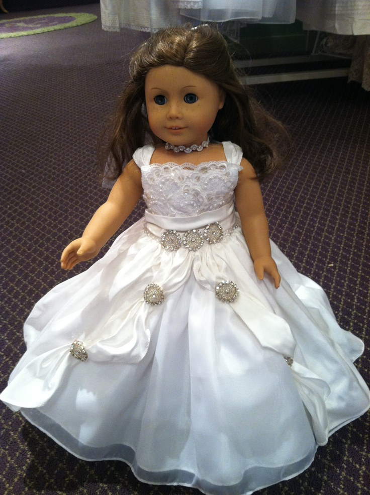 51 best images about ag doll wedding dresses on pinterest for American girl wedding dress