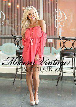 Modern vintage boutique vintage boutique and coral dress on pinterest
