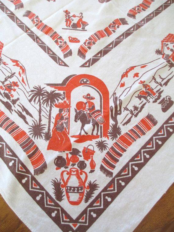 30 Best Vintage Mexican Linens Images On Pinterest