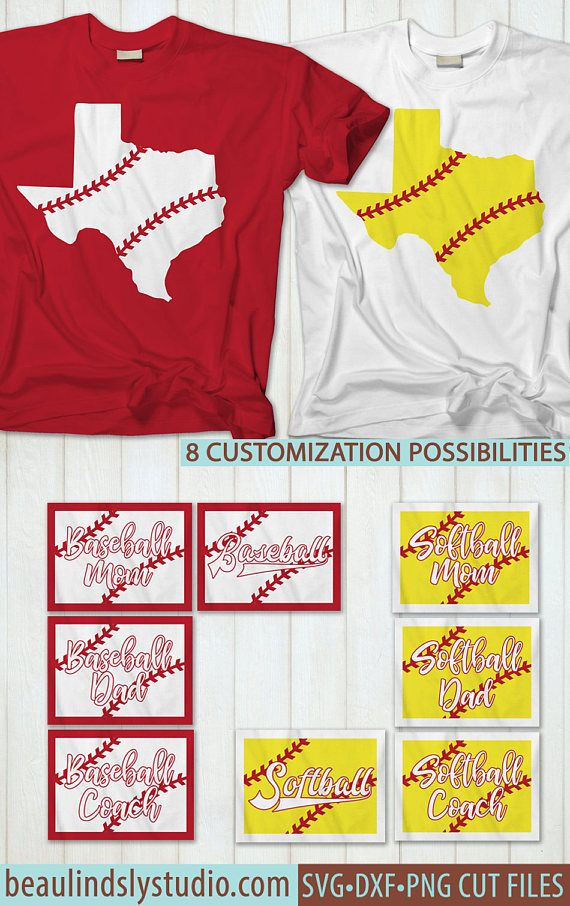 Texas Baseball SVG, Texas Softball SVG, Little League Baseball, Baseball Mom, Baseball Dad, Baseball Coach, Silhouette SVG, Cricut SVG File, SVG File Format, DXF File, PNG Image File  Perfect for Texas Softball and Texas Baseball players, parents, coaches and fans of all ages! It's perfect if you're cheering on your child, supporting your school team or rooting for your favorite professional team! It's also a great way to show your Texas Pride and Souther Charm!  For optional customization…