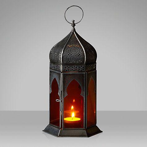 Buy John Lewis Punched Lantern, Amber, Small Online at johnlewis.com