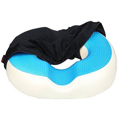 Donut Cushion Pillow ZZCP Cool Gel Memory Foam Coccyx Cushion, Comfort Orthopedic for Tailbone ,Hemorrhoids ,Bed Sores and Sitting Pain Relief- Ideal for Office Chair and Car (Black) #Donut #Cushion #Pillow #ZZCP #Cool #Memory #Foam #Coccyx #Cushion, #Comfort #Orthopedic #Tailbone #,Hemorrhoids #,Bed #Sores #Sitting #Pain #Relief #Ideal #Office #Chair #(Black)