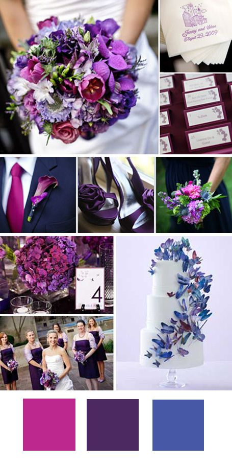 purple and fuschia
