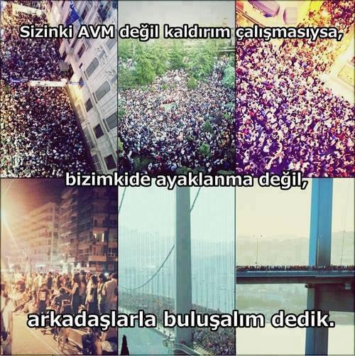 Taksim Gezi Parkı direnişi :)