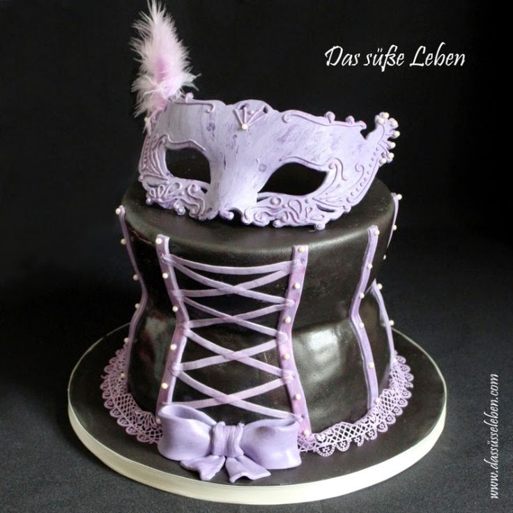 das s e leben corsage mit maske torte www. Black Bedroom Furniture Sets. Home Design Ideas