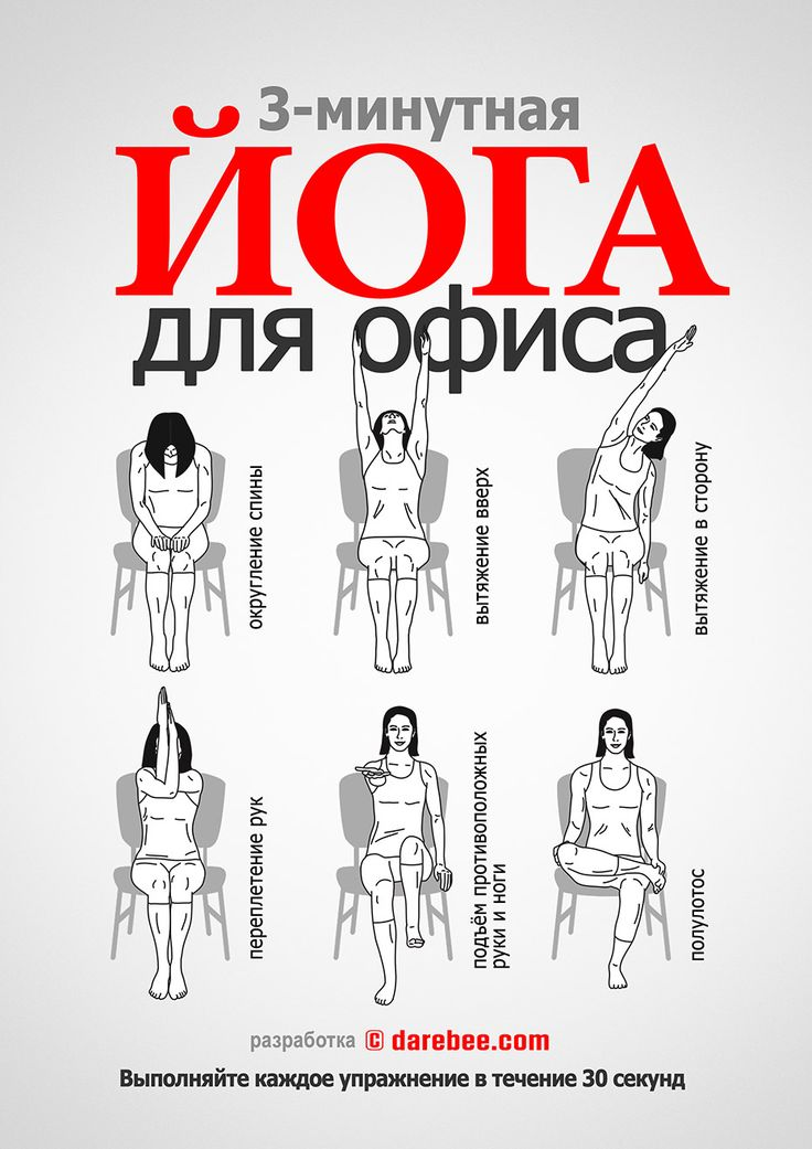 офисная гимнастика упражнения картинках видом