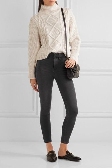 rag & bone - The Capri Cropped High-rise Skinny Jeans - Gray - 30