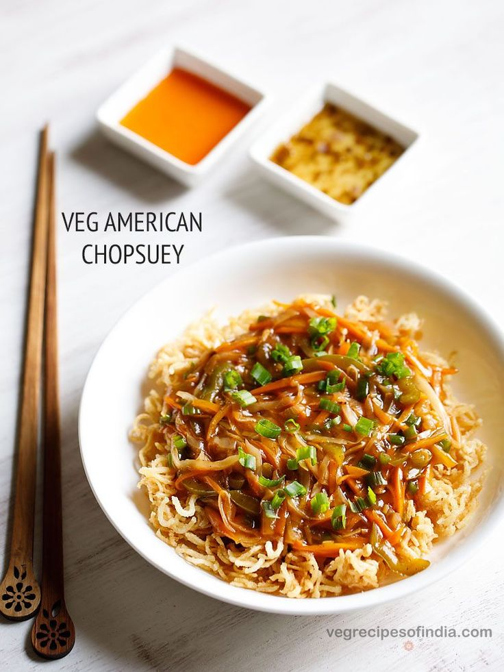 Veg American Chopsuey Recipe - One of the most popular and tasty fusion recipe. This American Chopsuey Recipe gives you one of the best tasting veg chopsuey.