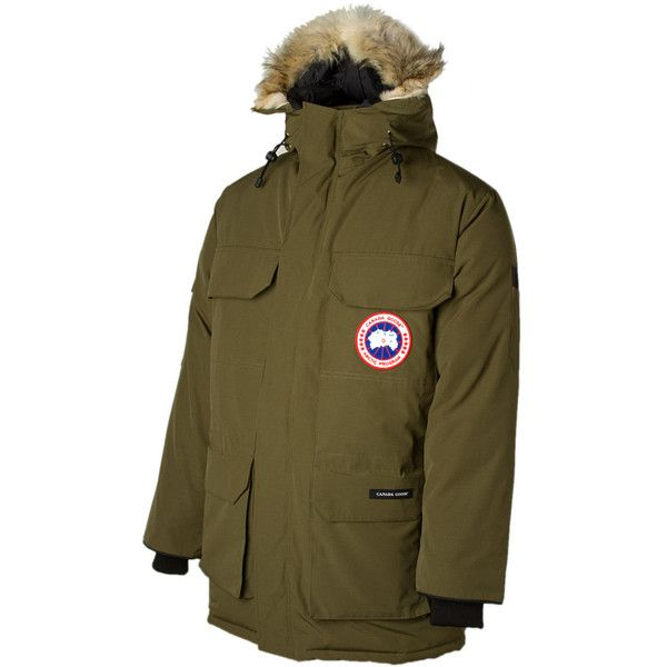 Canada Goose Expedition Down Parka (£740) ❤ liked on Polyvore featuring men's fashion, men's clothing, men's outerwear, men's coats, mens coats, mens insulated coats, mens parka coats and mens parka