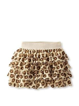 55% OFF Monnalisa Girl's Ivory/Brown Flower Skirt (Spotted)