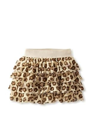55% OFF Monnalisa Girl's Ivory/Brown Flower Skirt (Spotted)
