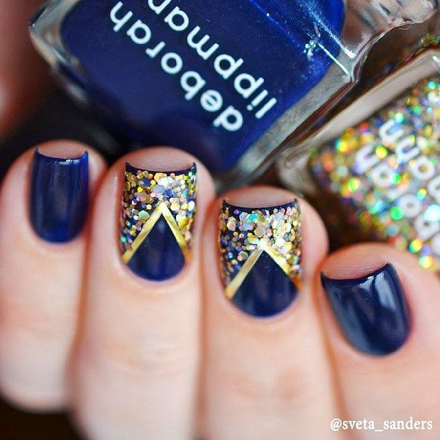 Sveta Sanders' gorgeous nails  http://beautyselective.blogspot.ru/2014/03/instagram-deborahlippmannrussia.html