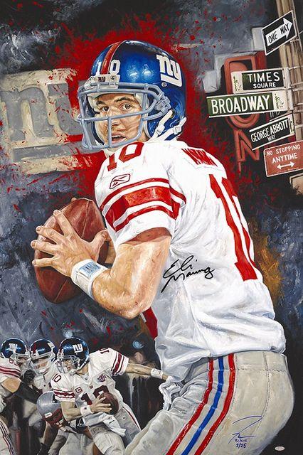 New York Giants, Eli Manning by Justyn Farano