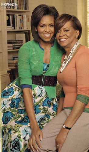 First Lady Obama and her mom, Mrs Robinson