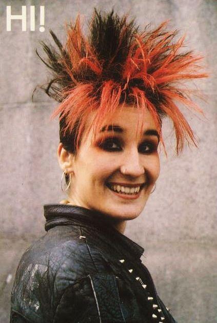 """Smiling Punk""postcard, 1985 UKhttp://just80sfashion.tumblr.com/"