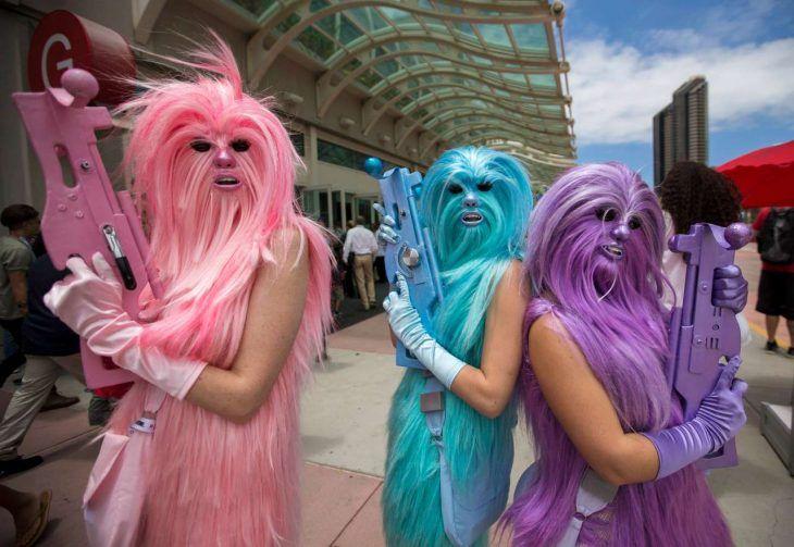 Disfraz de la novia de Chewbacca
