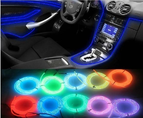 Car Accessories Interior Flexible Neon Light Atmosphere Lamp El Decoration Voiture Voiture Modele De Voiture