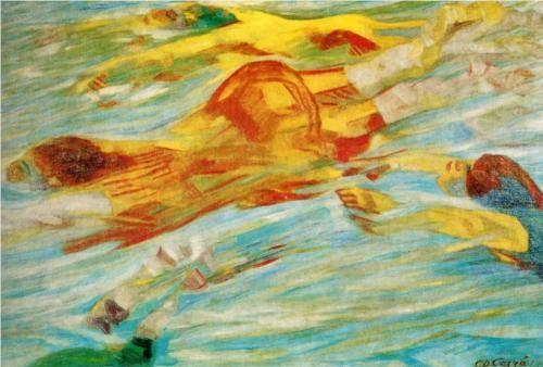 Swimmers (Carlo Carra, 1910)