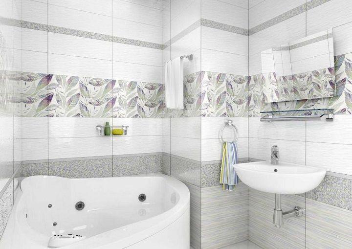 керамическая плитка  для ванной комнаты Уралкерамика Этель