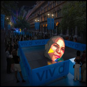 3D human head projects visitors' faces for Vivid Sydney 2014 | Architecture And Design
