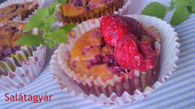 Kókuszlisztes muffin málnával (gluténmentes) dIÉTÁS