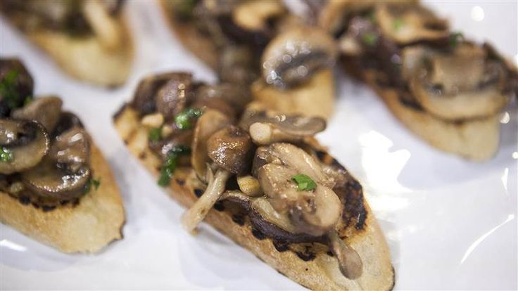 """Tired of ordering take out or popping in those frozen dinners? Wish you could prepare a homemade meal but feel like you don't have enough time? Lucky for you, these super simple recipes from Laura Vitale the host of The Cooking Channel's """"Simply Laura"""" won't take up your entire day.Mushroom bruschettaRecipe courtesy of Laura Vitale, 2014Yield: 8 to 10 bruschettaActive time: 30 minutesTotal time: 3"""