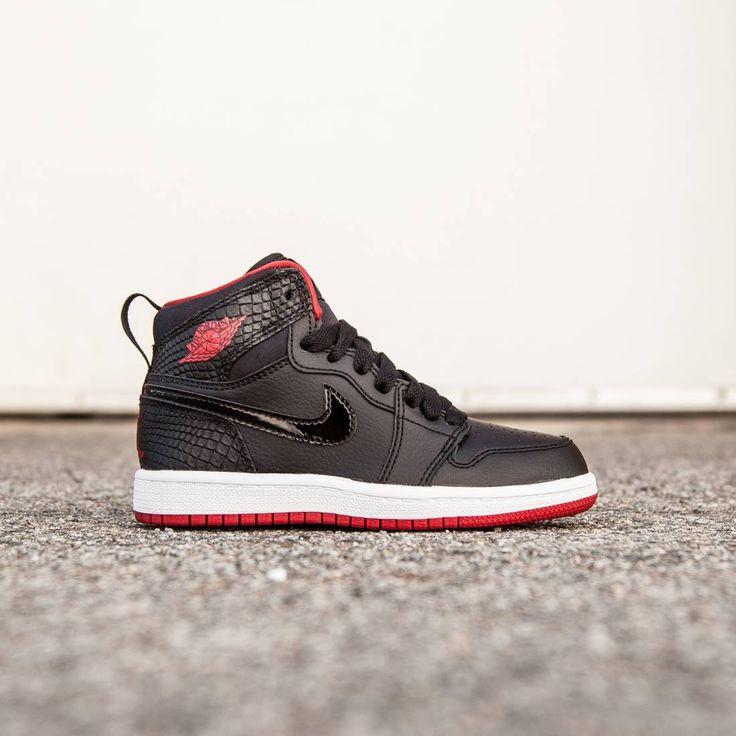 Jordan Little Kids Jordan 1 Retro High (black / white / gym red)