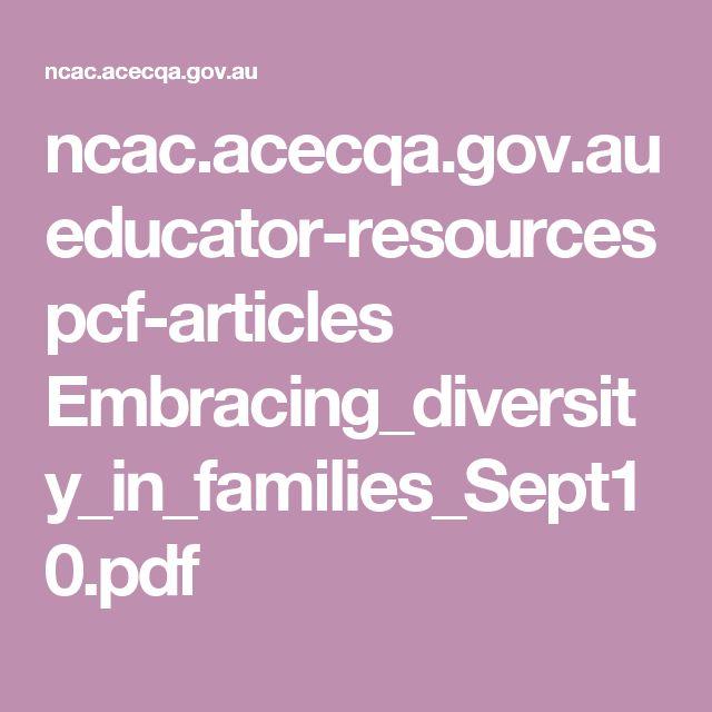 ncac.acecqa.gov.au educator-resources pcf-articles Embracing_diversity_in_families_Sept10.pdf