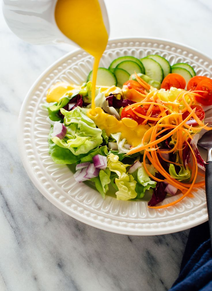 This carrot-ginger salad dressing recipe tastes remarkably fresh, creamy and light. It would pair nicely with other recipes with Asian flavors. Delicious!