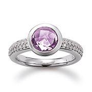 Damen-Ring mit Amethyst Zirkonia