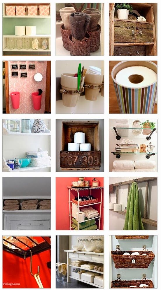 Diy And Craft Miracles 18 Small Bathroom Storage Ideas