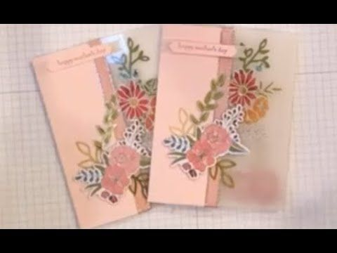 cardmaking video tutorial: Window and Vellum Mothers Day Card  ... luv the use of vellum ... Stampin' Up!