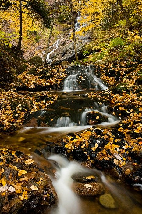 Beulach Ban Falls, Cape Breton Highlands National Park, Nova Scotia, Canada; photo by .John Sylvester