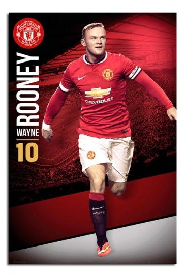 Manchester United Wayne Rooney Poster
