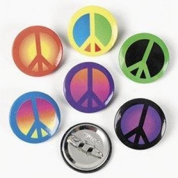 48 Pc Colorful Peace Sign Buttons. Fantasic For Groovy, Peace Sign Party Favors by Fun Express, http://www.amazon.com/dp/B0044V56T6/ref=cm_sw_r_pi_dp_UY9Trb1989TQ3