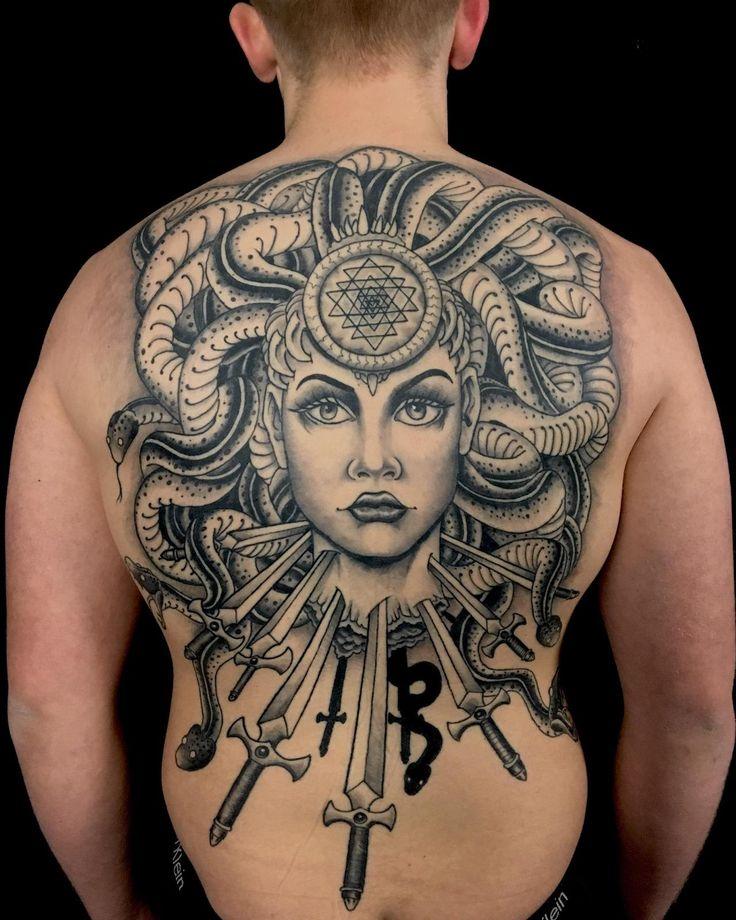 Medusa by Adam Underwood at Broken Hearts Tattoo Club, Minneapolis, MN (by Adam_Underwood) via KoolTattoos
