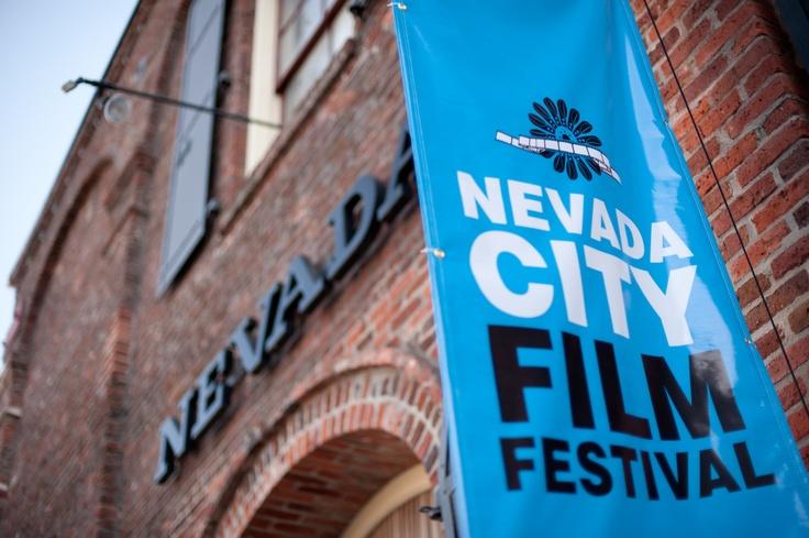 Outside the historic Nevada Theatre.